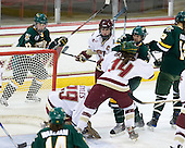 Chelsea Rapin (Vermont - 22), Corinne Boyles (BC - 29), Tracy Johnson (BC - 5), Katelyn Kurth (BC - 14), Celeste Doucet (Vermont - 12) - The University of Vermont Catamounts defeated the Boston College Eagles 5-1 on Saturday, November 7, 2009, at Conte Forum in Chestnut Hill, Massachusetts.