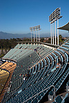Upper decks of Dodger Stadium in Los Angeles, CA