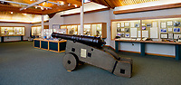 The Univ. of West Florida Archaeology Division has a cannon from the Presidio Santa Maria de Galve and other relics on display.<br /> <br /> COLIN HACKLEY PHOTO