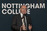 Sir John Peace, Lord Lieutenant of Nottinghamshire speaks at Nottingham City Business Club