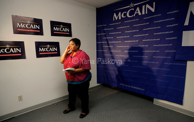 A newscaster reports on Republican Presidential hopeful John McCain's (R-AZ) first visit to Iowa since June.  McCain held a press conference in his headquarters in Urbandale, IA, on July 22, 2007, where he declared his presidential campaign would go on, despite losing several aides and $1.7 million to debt.  He has already announced he will not attend the Republican Straw Poll in Ames, IA, on August 11, 2007.