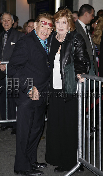 Jerry Stiller and Anne Meara<br /> attending the Opening Night Performance of WELL <br /> at the Longacre Theatre in New York City.<br /> March 30, 2006