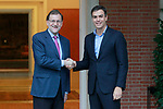 20170706. Mariano Rajoy, meets with the Secretary General of the PSOE, Pedro Sanchez.