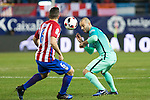 Atletico de Madrid's midfielder Koke Resurrecccion (L)  and FC Barcelona's defender Javier Mascherano (R) competes for the ball with during the match of Copa del Rey between Atletico de  Madrid and Futbol Club Barcelona at Vicente Calderon Stadium in Madrid, Spain. February 1st 2017. (ALTERPHOTOS/Rodrigo Jimenez)