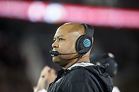 Stanford, CA - November 26, 2016: David Shaw, head coach, during the Stanford vs Rice game Saturday at Stanford Stadium.<br /> <br /> Stanford won 41- 17.