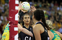 07.10.2018 Silver Ferns Maria Folau in action during the Silver Ferns v Australia netball test match at the Brisbane Entertainment Centre in Brisbane. Mandatory Photo Credit ©Michael Bradley.