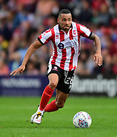 Lincoln City's Nathan Arnold<br /> <br /> Photographer Chris Vaughan/CameraSport<br /> <br /> The EFL Sky Bet League Two - Lincoln City v Morecambe - Saturday August 12th 2017 - Sincil Bank - Lincoln<br /> <br /> World Copyright &copy; 2017 CameraSport. All rights reserved. 43 Linden Ave. Countesthorpe. Leicester. England. LE8 5PG - Tel: +44 (0) 116 277 4147 - admin@camerasport.com - www.camerasport.com