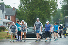 August 17, 2017; Pilgrims make the leg of ND Trail on day 4 from Bridgeton to Crawfordville, Indiana. As part of the University's 175th anniversary celebration, the Notre Dame Trail will commemorate Father Sorin and the Holy Cross Brothers' journey. A small group of pilgrims will make the entire 300+ mile journey from Vincennes to Notre Dame over  two weeks.(Photo by Barbara Johnston/University of Notre Dame)