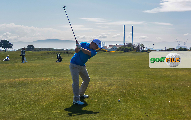 Jack Hume (Naas) on the 14th fairway during Round 4 of the Flogas Irish Amateur Open Championship at Royal Dublin on Sunday 8th May 2016.<br /> Picture:  Golffile / Thos Caffrey