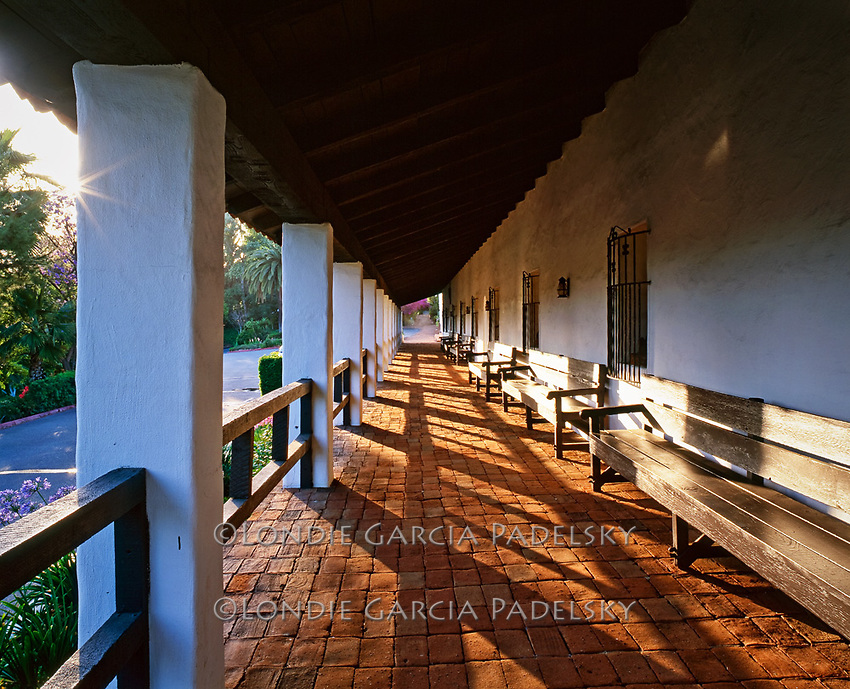 Mother of the Missions, Mission San Diego De Alcala, the first of the 21 missions founded on July 16, 1769. National Historic Landmark, San Diego, California