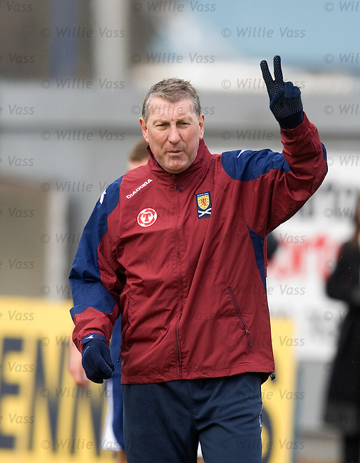 Terry Butcher signals his intentions to the dutch
