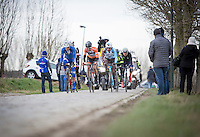 2nd passage Haaghoek, leading group<br /> <br /> 72nd Omloop Het Nieuwsblad 2017