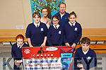 Blennerville NS  launching their Chaser fundraiser which is on in The Rose Hotel on Friday 18th October<br /> Front l to r: Ella O'Brien, Ella Guthin, Emily O'Brien, Grainne O'Donnell, Sean O'Connor.<br /> Robbie O'Connell (Principal) and Louise Brassil (Teacher)