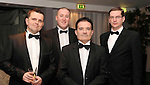 Stuart Hill, Sean McDaid, O2, Peter Flood, and Brian McNamara Glenview  Hotel Wicklow, at the Irish Hotels Federation Conference Gala Dinner in The Malton Hotel, Killarney on Tuesday night. Picture: MacMonagle, Killarney