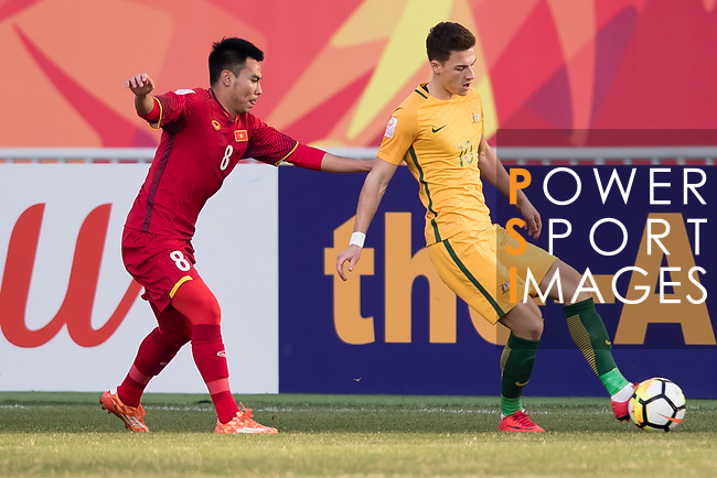 Vietnam vs Australia during the AFC U23 Championship China 2018 Group D match at Kunshan Sports Center on 14 January 2018, in Kunshan , China. Photo by Yu Chun Christopher Wong / Power Sport Images