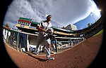 Oklahoma City Dodgers&rsquo; Rob Segedin takes the field between innings at Greater Nevada Field in Reno, Nev., on Sunday, July 17, 2016.<br />Photo by Cathleen Allison