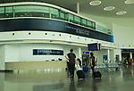 International airport terminal building interior, Gibraltar, southern Europe
