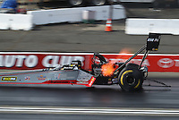 Nov 12, 2016; Pomona, CA, USA; NHRA top fuel driver Shawn Reed during qualifying for the Auto Club Finals at Auto Club Raceway at Pomona. Mandatory Credit: Mark J. Rebilas-USA TODAY Sports