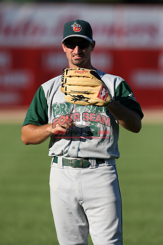 Fort Wayne TinCaps Dean Anna during a game vs. the West Michigan Whitecaps at Fifth Third Field in Comstock Park, Michigan August 18, 2010.   Fort Wayne defeated West Michigan 5-1.  Photo By Mike Janes/Four Seam Images
