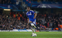 Mikel John Obi of Chelsea plays a pass during the UEFA Champions League Round of 16 2nd leg match between Chelsea and PSG at Stamford Bridge, London, England on 9 March 2016. Photo by Andy Rowland.