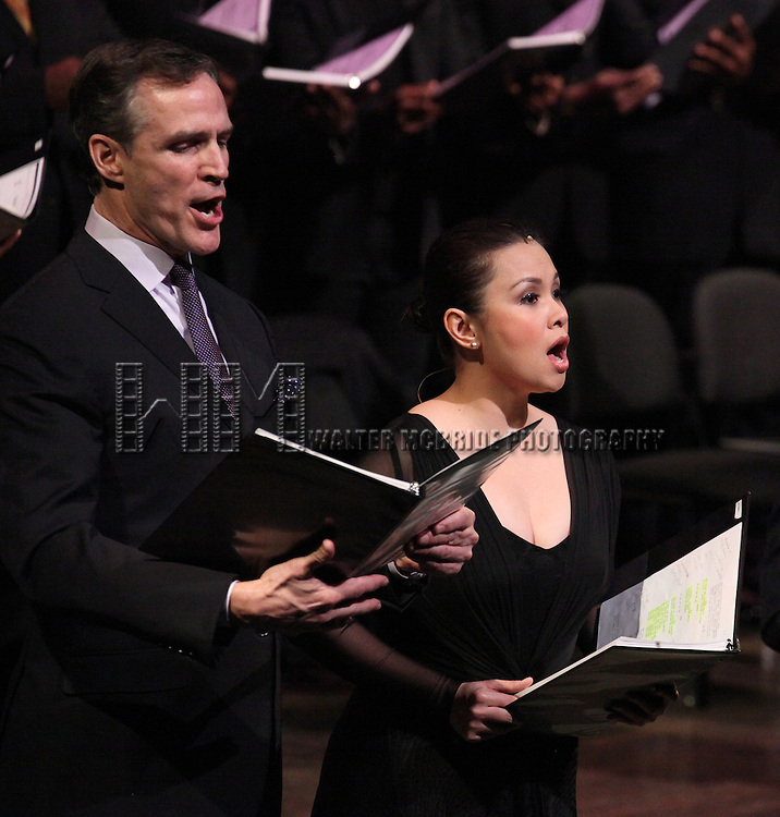 Howard McGillin & Lea Salonga performing in the Manhattan Concert Production of 'Ragtime - In Concert' at Avery Fisher Hall in New York City on 2/18/2013