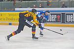 15.04.2018, EnergieVerbund Arena, Dresden, GER, Euro Hockey Challenge, Deutschland vs. Slowakei, im Bild<br /> <br /> <br /> Pascal Zerressen (#6, Deutschland), Andrej Kudrna (#18, Slowakei), <br /> <br /> Foto &copy; nordphoto / Dostmann