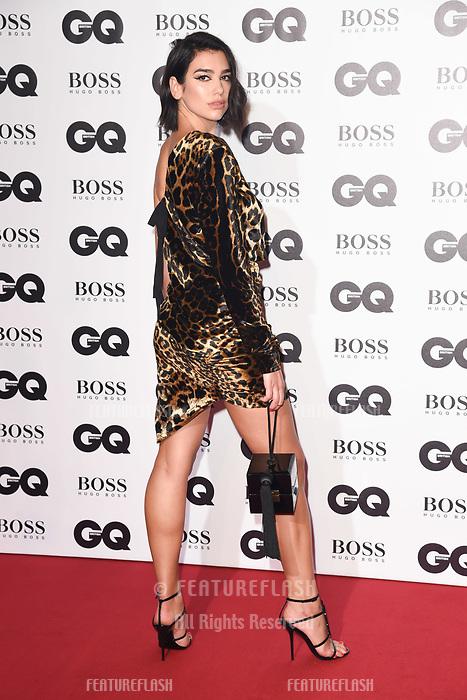 LONDON, UK. September 05, 2018: Dua Lipa at the GQ Men of the Year Awards 2018 at the Tate Modern, London