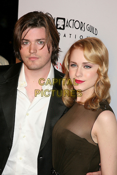 "IRA DAVID WOOD & EVAN RACHEL WOOD.World Premiere of ""Running With Scissors"", Beverly Hills, California, USA..October 10th, 2006.Ref: ADM/BP.headshot portrait red lipstick brother sister siblings family.www.capitalpictures.com.sales@capitalpictures.com.©Byron Purvis/AdMedia/Capital Pictures."