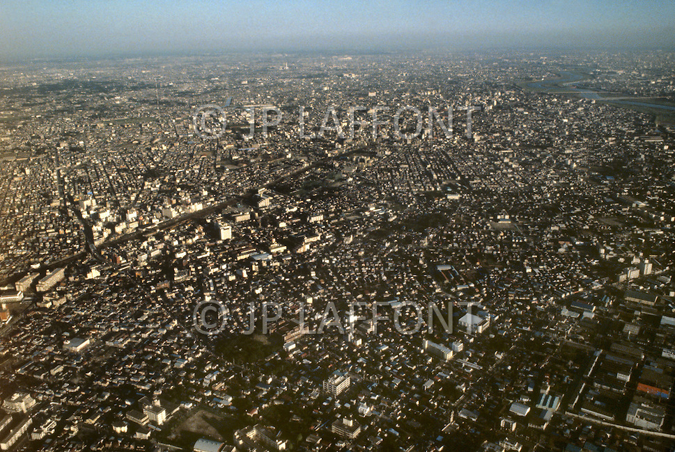 October, 1980. Tokyo, Japan. Aerial views of Tokyo.