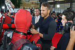 Canadian actor Ryan Reynolds signs autographs for fans during the Japan Premiere for his film Deadpool 2 on May 29, 2018, Tokyo, Japan. The second installment of the Marvel hit movie will be released in Japan onJune 1st. (Photo by Rodrigo Reyes Marin/AFLO)