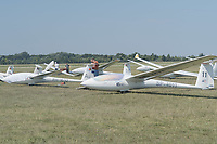 Participants attend the FAI Junior World Gliding Championships held in Szeged, Hungary on Aug. 6, 2019. ATTILA VOLGYI