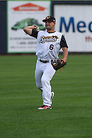 Quad Cities River Bandits second baseman Alex Hernandez (6) during warmups before a Midwest League game against the Wisconsin Timber Rattlers on May 8th, 2015 at Modern Woodmen Park in Davenport, Iowa.  Quad Cities defeated Wisconsin 11-6.  (Brad Krause/Four Seam Images)