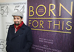 "Lin-Manuel Miranda backstage after a Song preview performance of the Bebe Winans Broadway Bound Musical ""Born For This"" at Feinstein's 54 Below on November 5, 2018 in New York City."