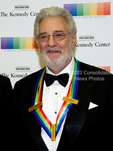 2000 Kennedy Center Honor recipient Plácido Domingo arrives for the formal Artist's Dinner honoring the recipients of the 39th Annual Kennedy Center Honors hosted by United States Secretary of State John F. Kerry at the U.S. Department of State in Washington, D.C. on Saturday, December 3, 2016. The 2016 honorees are: Argentine pianist Martha Argerich; rock band the Eagles; screen and stage actor Al Pacino; gospel and blues singer Mavis Staples; and musician James Taylor.<br /> Credit: Ron Sachs / Pool via CNP