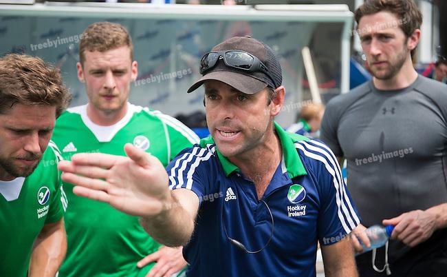 26/06/2015<br /> HWL Semi Final Antwerp Belgium 2015<br /> Ireland v China<br /> Craig Fulton Ireland Coach<br /> Photo: Grant Treeby