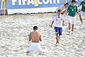 (L-R) Angel Rodriguez (MEX), Tomoya Uehara (JPN), SEPTEMBER 02, 2011 - Beach Soccer : FIFA Beach Soccer World Cup Ravenna-Italy 2011 Group D match between Japan 2-3 Mexico at Stadio del Mare, Marina di Ravenna, Italy, (Photo by Enrico Calderoni/AFLO SPORT) [0391]