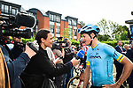 Jakob Fuglsang (DEN) Astana Pro Team before the start of the 83rd edition of La Fl&egrave;che Wallonne 2019, running 195km from Ans to Huy, Belgium. 24th April 2019<br /> Picture: ASO/Gautier Demouveaux | Cyclefile<br /> All photos usage must carry mandatory copyright credit (&copy; Cyclefile | ASO/Gautier Demouveaux)