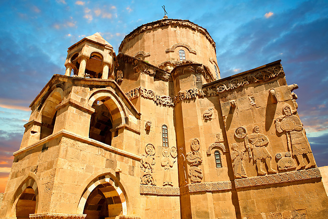 10th century Armenian Orthodox Cathedral of the Holy Cross on Akdamar Island, Lake Van Turkey 57