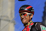 Greg Van Avermaet (BEL) BMC Racing Team on stage at sign on before the 101st edition of the Tour of Flanders 2017 running 261km from Antwerp to Oudenaarde, Flanders, Belgium. 26th March 2017.<br /> Picture: Eoin Clarke | Cyclefile<br /> <br /> <br /> All photos usage must carry mandatory copyright credit (&copy; Cyclefile | Eoin Clarke)