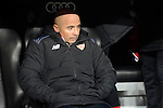 Sevilla FC's coach Jorge Sampaoli during Copa del Rey match between Real Madrid and Sevilla FC at Santiago Bernabeu Stadium in Madrid, Spain. January 04, 2017. (ALTERPHOTOS/BorjaB.Hojas)