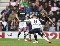 Bolton Wanderers' Luca Connell competing with Derby County's Mason Mount <br /> <br /> Photographer Andrew Kearns/CameraSport<br /> <br /> The EFL Sky Bet Championship - Derby County v Bolton Wanderers - Saturday 13th April 2019 - Pride Park - Derby<br /> <br /> World Copyright &copy; 2019 CameraSport. All rights reserved. 43 Linden Ave. Countesthorpe. Leicester. England. LE8 5PG - Tel: +44 (0) 116 277 4147 - admin@camerasport.com - www.camerasport.com