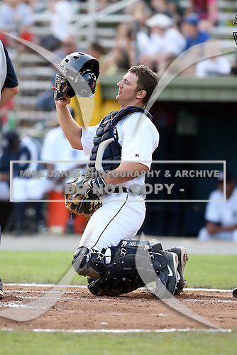 July 7th 2008:  Tyler Weber of the Oneonta Tigers, Class-A affiliate of Detroit Tigers, during a game at Damaschke Field in Oneonta, NY.  Photo by:  Mike Janes/Four Seam Images