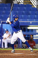 GCL Blue Jays center fielder Dominic Abbadessa (39) at bat during the second game of a doubleheader against the GCL Phillies on August 15, 2016 at Florida Auto Exchange Stadium in Dunedin, Florida.  GCL Phillies defeated the GCL Blue Jays 4-0.  (Mike Janes/Four Seam Images)
