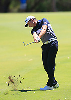 Brett Rumford (AUS) in action on the 2nd during Round 3 of the ISPS Handa World Super 6 Perth at Lake Karrinyup Country Club on the Saturday 10th February 2018.<br /> Picture:  Thos Caffrey / www.golffile.ie<br /> <br /> All photo usage must carry mandatory copyright credit (&copy; Golffile | Thos Caffrey)