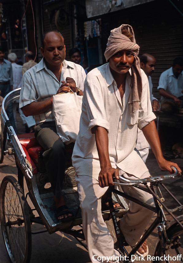 Fahrradrikscha in Agra (Uttar Pradesh), Indien