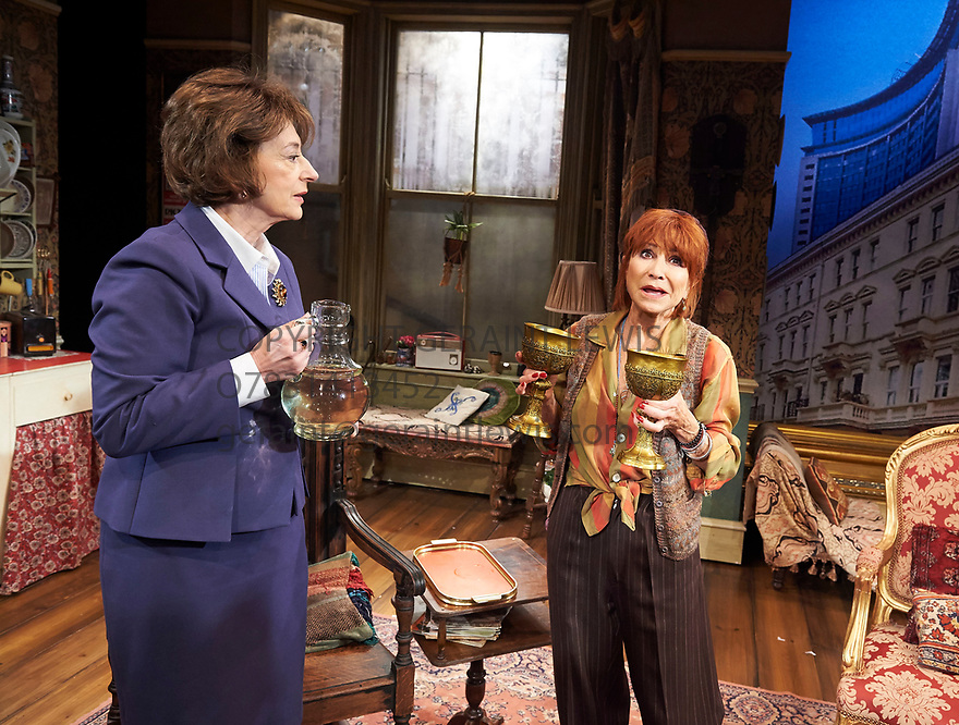 Lettice and Lovage by Peter Shaffer, directed by Trevor Nunn. With Maureen Lipman as Lotte Schoen, Felicity Kendal as Lettice Douffet. Opens at The Mernier Chocolate Factory Theatre on 17/5/17.