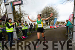 Sharon Cahill first lady home at the Kerry's Eye Tralee, Tralee International Half Marathon on Saturday.