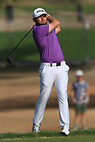 Tyrrell Hatton (ENG) on the 3rd during Round 4 of the Omega Dubai Desert Classic, Emirates Golf Club, Dubai,  United Arab Emirates. 27/01/2019<br /> Picture: Golffile | Thos Caffrey<br /> <br /> <br /> All photo usage must carry mandatory copyright credit (&copy; Golffile | Thos Caffrey)