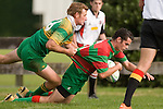 G. Pyne is unable to stop C. King from scoring a try. Counties Manukau Premier Club Rugby round 5 game between Waiuku and Drury played at Waiuku on the 12th of May 2007. Waiuku led 33 - 0 at halftime and went on to win 57 - 5.