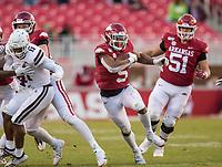 NWA Democrat-Gazette/BEN GOFF @NWABENGOFF<br /> Rakeem Boyd, Arkansas running back, carries in the fourth quarter vs Mississippi State Saturday, Nov. 2, 2019, at Reynolds Razorback Stadium in Fayetteville.